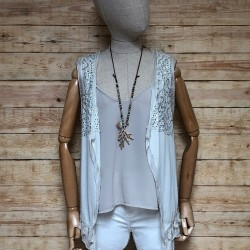 Hippie vest with sequins and tassels