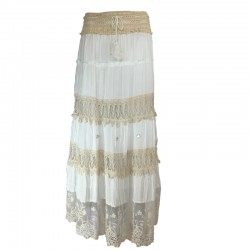 IBIZA long lace skirt