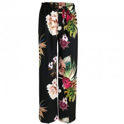 Wide pants with floral print
