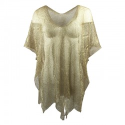 Poncho wire with gold thread