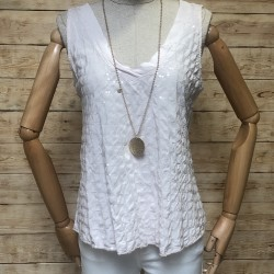 Glitter T-shirt with wide straps