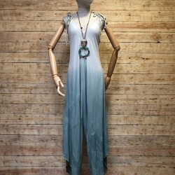 Asymmetric degrade jumpsuit