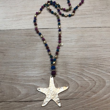 XL star necklace
