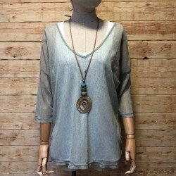 Hippie chic mesh T-shirt