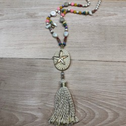 Straw starfish necklace