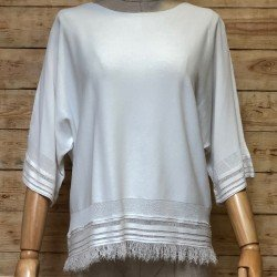 Ibiza sweater with fringes