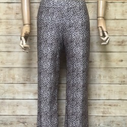 Wide animal print long trousers
